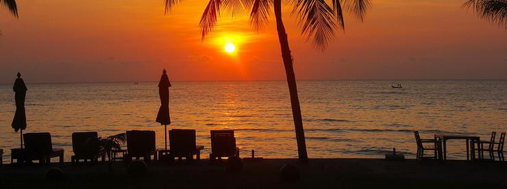 Закат в Хуан-Хине, Таиланд