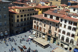 Площадь Синьории, вид сверху