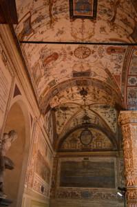 Во дворе Палаццо Веккьо - потолок