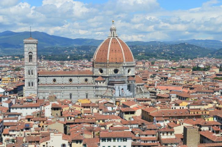 Вид на Дуомо с колокольни Палаццо Веккьо