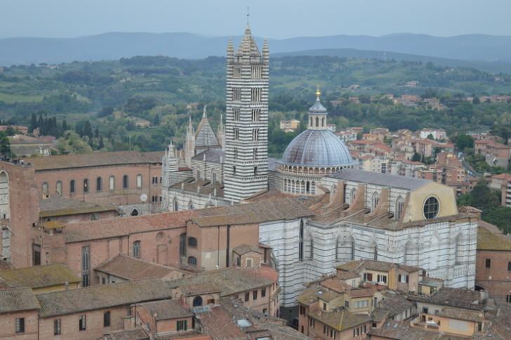 Сиенский собор, вид с Торре-дель-Манджа