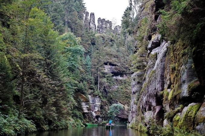 Эдмундово ущелье, Чешская Швейцария