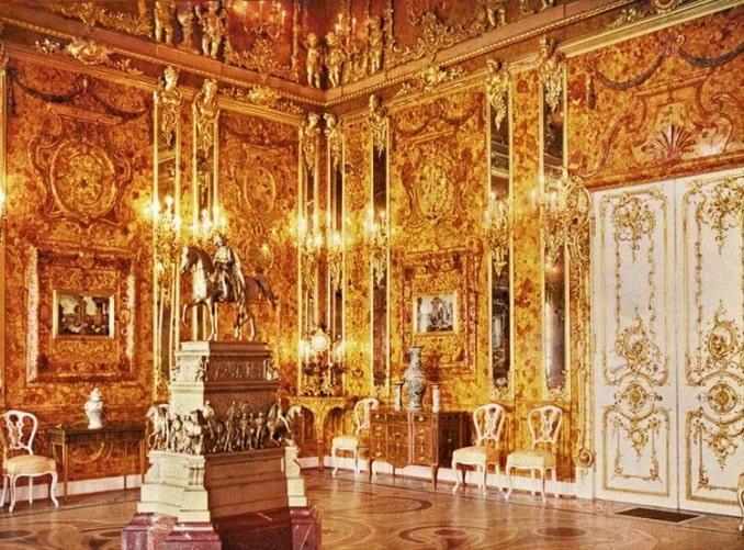 Янтарная комната в Большом Екатерининском дворце