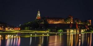 Вавельский замок ночью