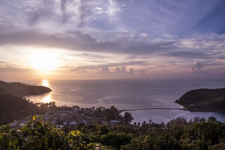 Вид на острове Панган, Таиланд