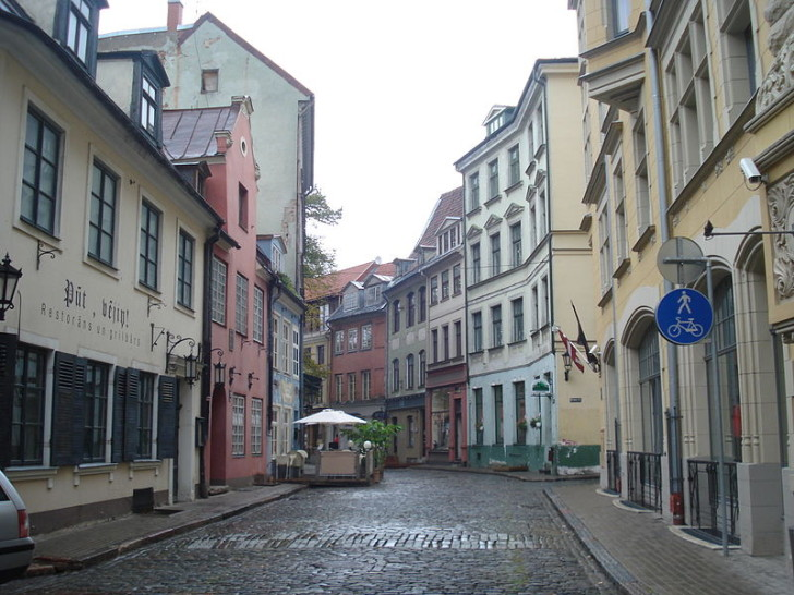 Улица Яуниела, Рига, фото Alma Pater