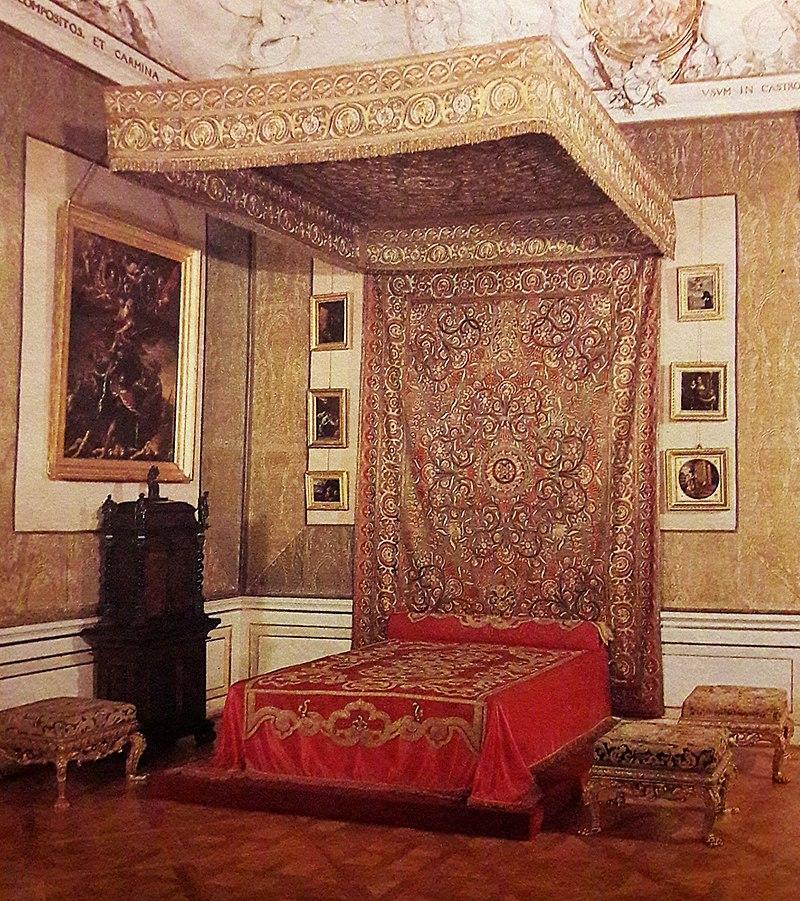 Спальня короля во дворце Вилянув