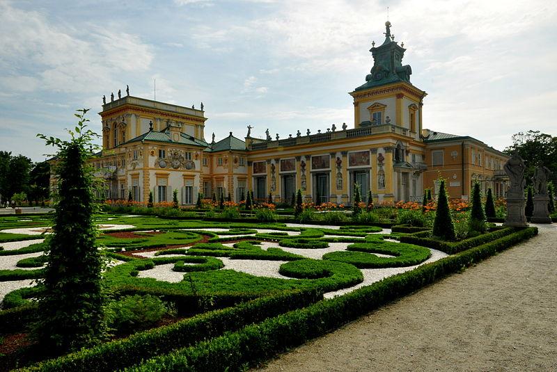 Сад дворца в Вилянуве