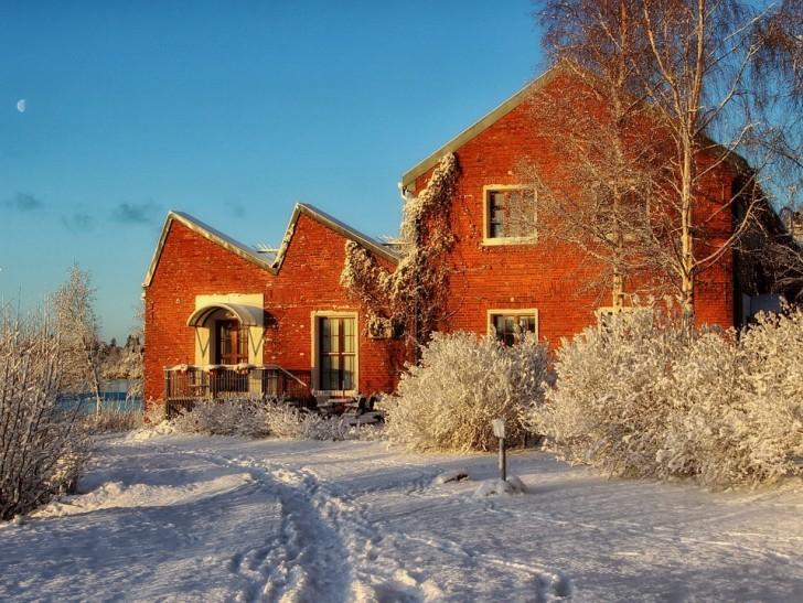 Зимняя Финляндия, дом