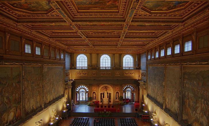 Зал пятисот, Палаццо Веккьо, фото Bradley Grzesiak