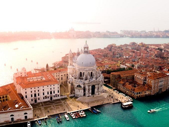 Венеция, Санта-Мария-делла-Салюте вид сверху
