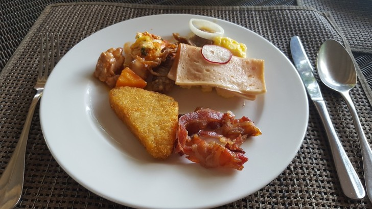 Завтрак, отель