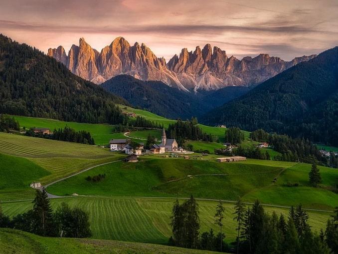 Фунес в Альпах - Италия на машине