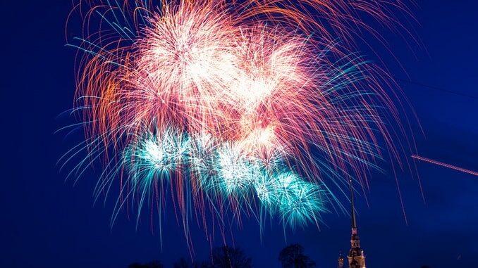 Салют на 9 мая в Санкт-Петербурге