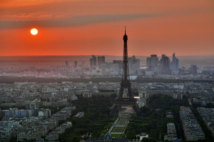 Париж, вид с башни Монпарнас