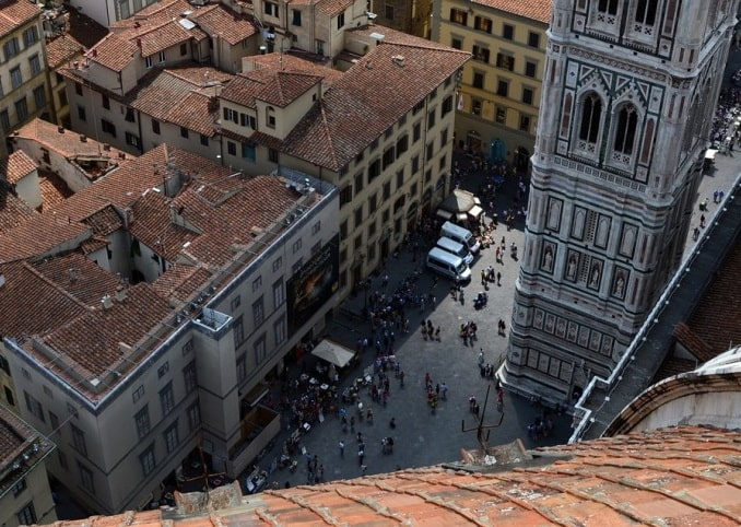Вид с купола Санта-Мария-дель-Фьоре, Флоренция