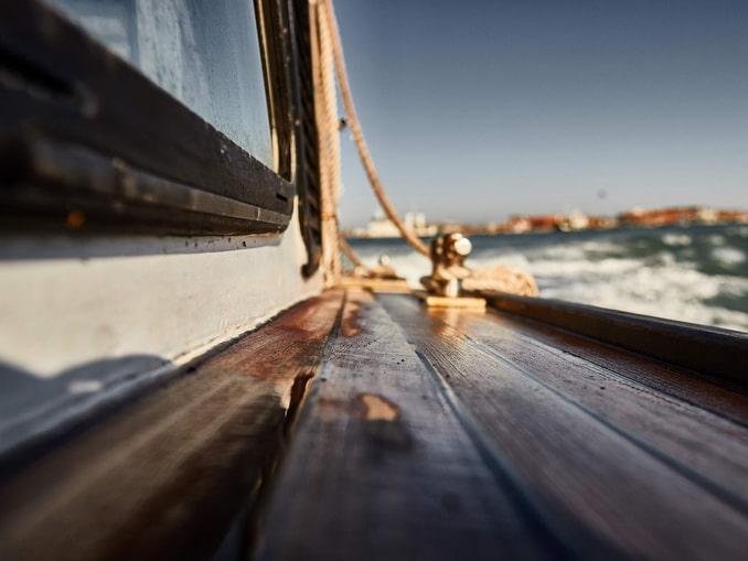 На катере на Мурано, Венеция