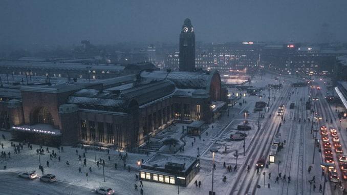 Зимний Хельсинки