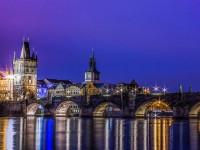 Прага, осень, ночь
