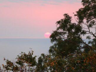 Закат в Сочи в ноябре