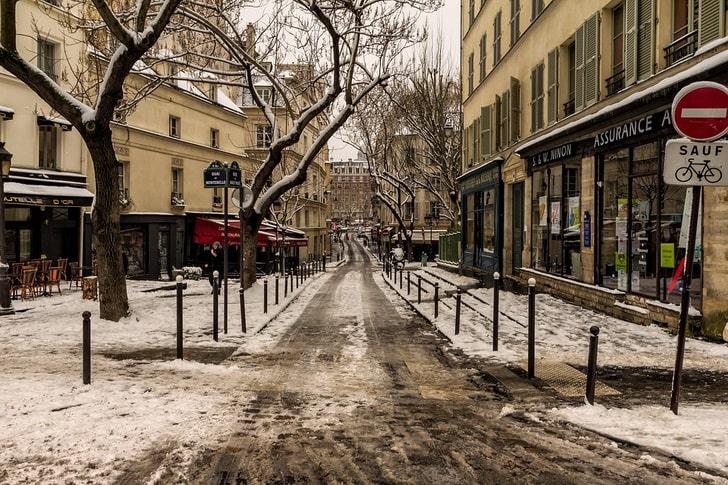 Париж, зима