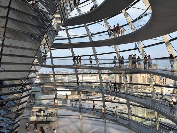 Берлин, купол Рейхстага