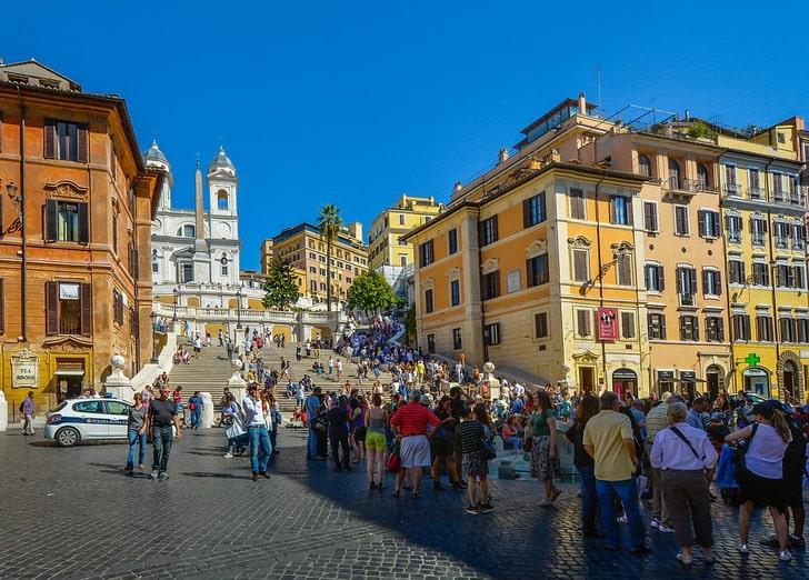 Итальянская лестница в Риме
