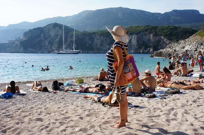 Пляж на Корфу
