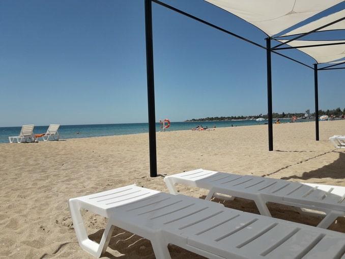 Пляж в Крыму, Заозерное