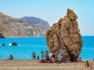 Скала Афродиты на Кипре, июль