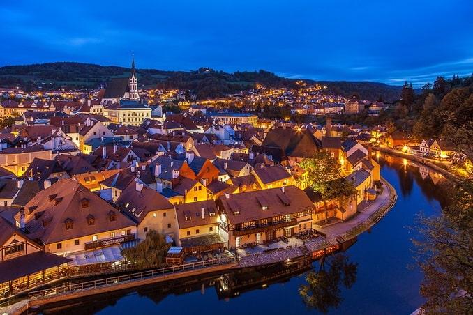 Чешский Крумлов: старый город