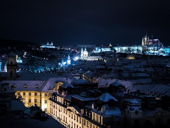 Зимняя Прага, вечер