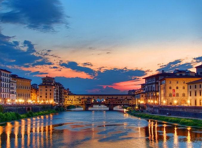 Арно и Понте-Веккьо, Флоренция