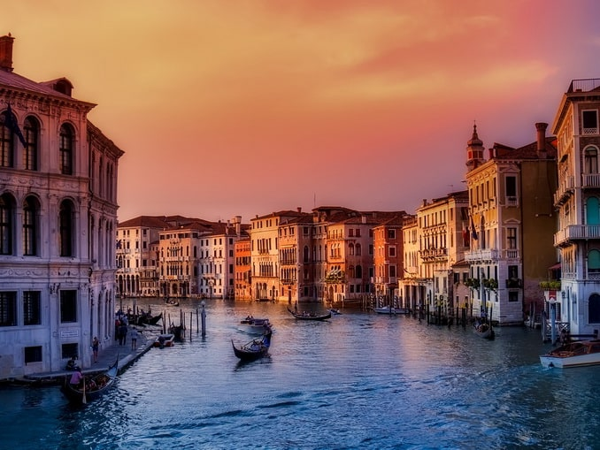 Венеция, декабрь, Гранд-канал