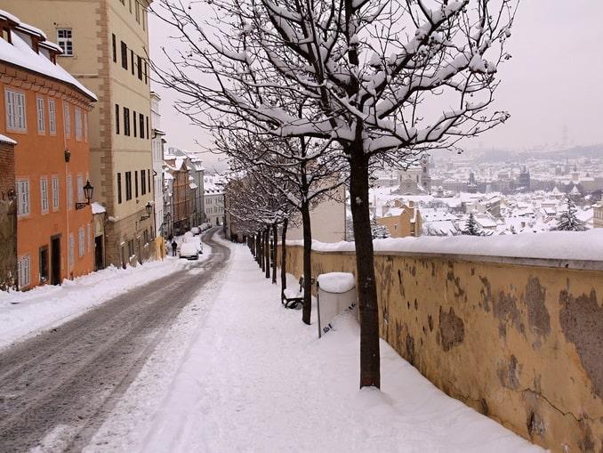 Зима в Праге, Чехия