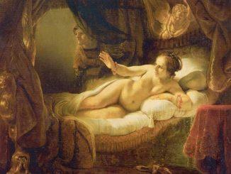 Даная Рембрандта - известная картина Эрмитажа