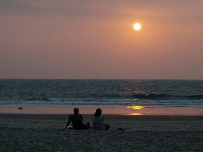 Пляж на Гоа, закат