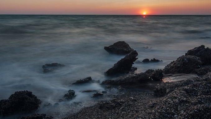 Море в Крыму под Новый год