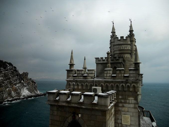 Ласточкино гнездо в Крыму зимой