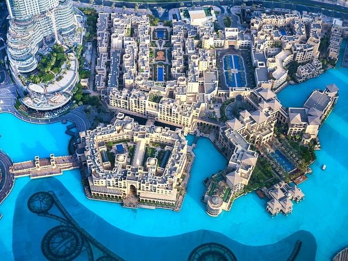 Дубай, ОАЭ, вид сверху