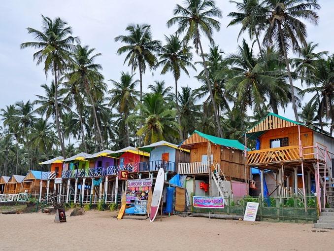 Северный Гоа, пляжные бунгало