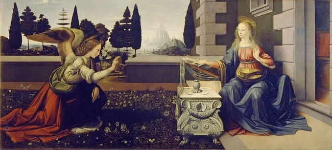 """""""Благовещение"""", Леонардо да Винчи"""