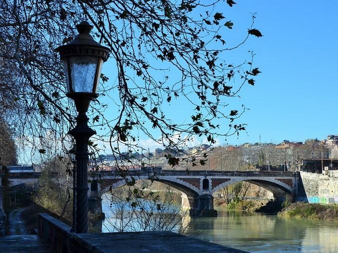 Тибр - Рим в январе