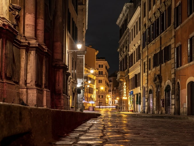 Рим зимой, улица