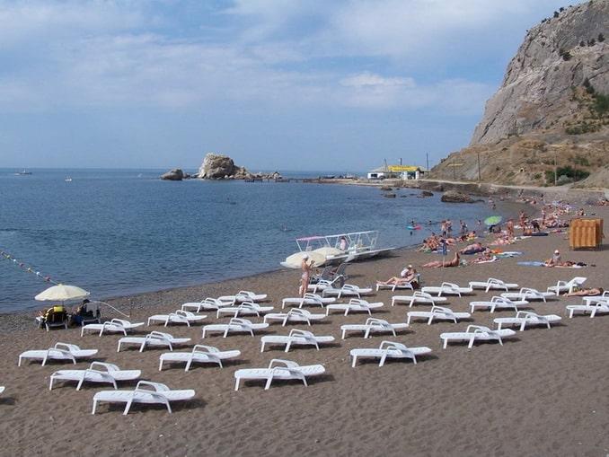 Пляж в Судаке, Крым