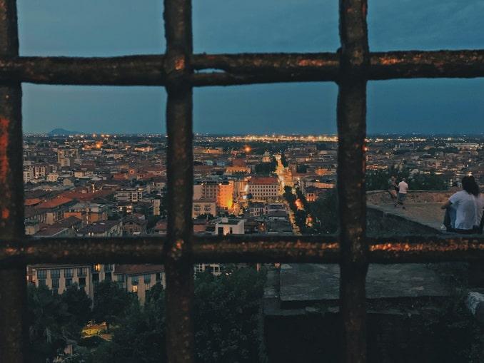 Вечерний Бергамо, панорама