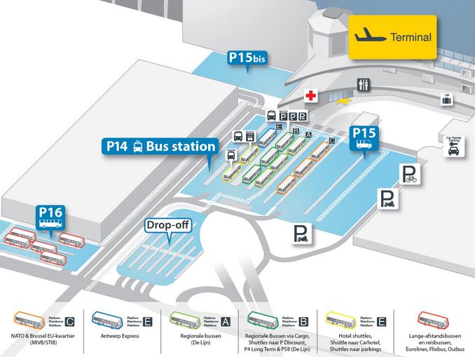 Схема аэропорта Брюсселя Завентем