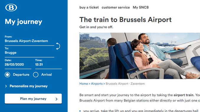 Официальный сайт железных дорог Бельгии