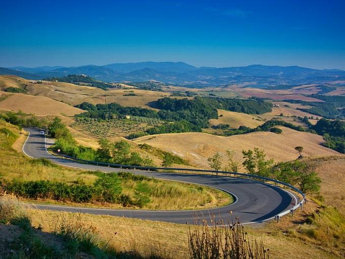 Дорога в Тоскане, Италия