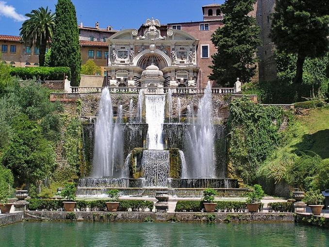 Вилла д'Эсте в Тиволи, Италия